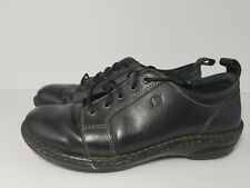 Born Womens 8.5 Black Leather Lace Up Oxford Shoes Walking Comfort Hand Crafted