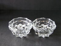 Vintage Matching Pair Indiana Glass Candle Holder for Taper or Pillar Candle(2)