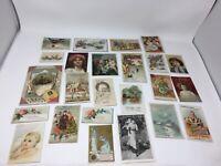 Large Lot 24 Victorian Trade Cards Variety Collection Ephemera Advertising