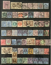 More details for collection of gb perfins from queen victoria- george v,seahorses etc.