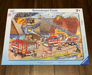 Ravensburger Puzzle Fighting FIRE • WATER!  My First Frame & Tray (14 pieces)