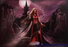 "ANNE STOKES Flag/ Tapestry/ Fabric Poster  ""Blood Moon""     NEW"