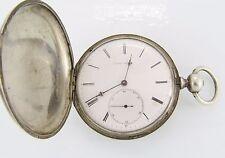 Jules Huguenin Silver Hunters Case Pocket Watch