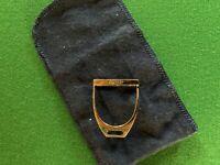 Hermès Boucle ETRIER en métal argenté Vintage