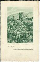 Ansichtskarte Prag/Praha - Pohled z Fürstenberske Zahrady - Konst Busek - s/w