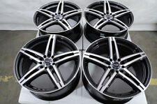 "18"" Wheels Fit Nissan Altima Audi TT Accord Civic CRV Is350 Black Rims 5 Lugs"