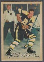 1953-54 Parkhurst Boston Bruins Hockey Card #87 Hal Laycoe