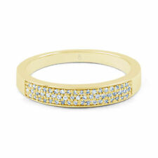 Anniversary Cluster Natural Yellow Gold Fine Diamond Rings
