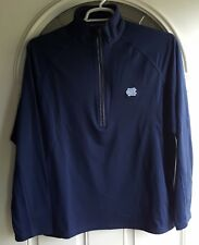 Tar Heels Quarter Zip Athletic L/S Top Lg 85 Poly/15 Spandex Navy Embroidered