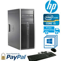 Hp Elite 8200 CMT Core i5-2500@3.30GHZ 8GB RAM, 1TB HDD,DVD/RW Win 10 Pro,Pc