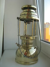 "ANTIQUE Sweden KEROSENE LANTERN gas LAMP ""Optimus 300"" BRASS"