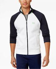 Hugo Boss Green Black Full-Zip Colorblocked Knit Track Jacket Mens XL New $125 x