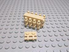 Lego 10 Platten 1x2 mit Griff tan beige  2540 Set 4478 6753 6240 10195