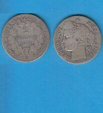 Gertbrolen 2 Francs argent Cérès  1871 Paris Variété Grand A Exemplaire N° 3