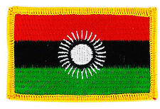 FLAG PATCH PATCHES MALAWI IRON ON COUNTRY EMBROIDERED WORLD FLAG