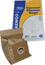 Electruepart BAG 170 5 pack Vacuum Cleaner Bags to fit Daewoo Vacuum Cleaners
