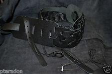 """Franklin Banjo Strap Model BJGL-BK-BK """"NEW ITEM"""" woven Leather Link Banjo strap"""