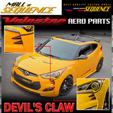 Front Head Lamp Devil's Claw Point Molding 4p for 11 17 Hyundai Veloster & Turbo