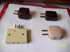 Vintage Electrical Outlet Splitter Plug Adapter Lot of 4