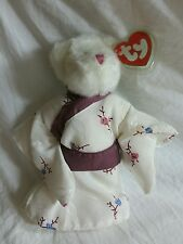 Vintage Ty Attic Treasures Suki the Bear in Kimono Excellent Tags and protector