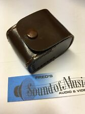 Leather Vintage Cute Pouch iPhone Stereo Headphone In-ear Travel Case w/loop