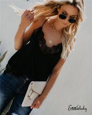 US Sexy Women Crop Top Casual Blouse Vest T-Shirt Sleeveless Tank tops S-XL