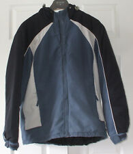 Lovely warm mens blue, black & cream padded jacket from Cedarwood State, Small