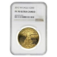 2012 W 1 oz $50 Proof Gold American Eagle NGC PF 70 UCAM