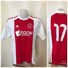 Ajax Amsterdam #17 2010/2011 home L Adidas shirt jersey football soccer maillot