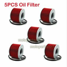 5x Oil Filter For KAWASAKI ZZR250 GPX600R KZ650B KZ1000P ZRX1100 ZZR1200 ZG1200