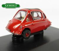 BNIB OO GAUGE OXFORD DIECAST 1:76 76HE002 HEINKEL KABINE SPARTAN RED 3 WHEEL CAR