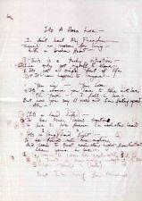 QUEEN REPRO 1984 ITS A HARD LIFE FREDDIE MERCURY HAND WRITTEN LYRICS