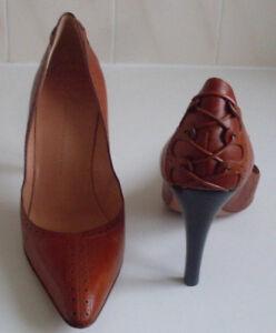 GIUSEPPE ZANOTTI Italian Designer Brown Pump Heels Court Shoes Size EU 38 UK 5