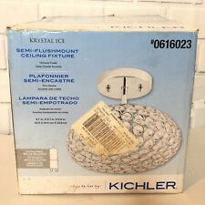 Kichler Krystal Ice Chrome Crystal Semi-Flush Mount Light Ceiling Fixture