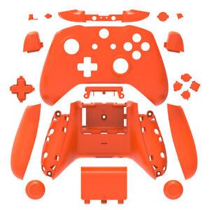 Orange Matt Xbox One S X Controller Custom Shell Case Cover Mod Kit Housing DIY