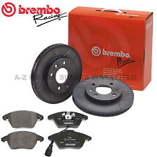 For Audi A3 S3 1.8 T Turbo 8L Brembo Front Grooved Max Brake Discs & Pads 312mm