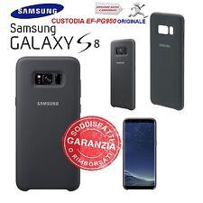 Custodia Cover Back silicone nero Originale Samsung per Galaxy S8 SM-G950