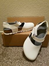ALPRO by Birkenstock White Leather Shoes Mules Slip On Sandals Size 36