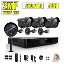 ELEC 1080P 4CH 2500TVL CCTV DVR 2MP Video Surveillance Security Camera System HD