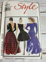 Vintage Style Misses' Evening Dress Pattern 1462 Size 12 14 16 UNCUT 1980's