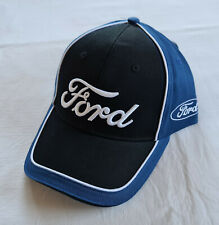 Ford Script Logo Mens Black Blue Embroidered Cap Hat One Size New
