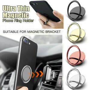 360° Rotation Magnetic Finger Mirror Ring Stand Holder For iPhone Samsung Phone~
