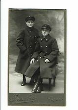 photographie cdv Jeunes filles en manteau insigne F PACALET photographe LYON