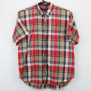 Claybrooke Men's Button Down SS Collared Shirt 2XL XXL Multicolor Plaid Flawed