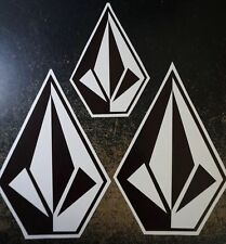 Authentic Team Rider Volcom Stone Vinyl Stickers 2PCS 10x7 and  7x5 Decals