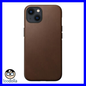 NOMAD Modern Case - genuine Horween Leather for Apple iPhone 13, Brown