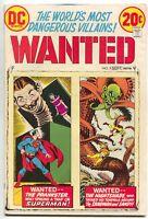 Wanted Worlds Most Dangerous Villains 9 DC 1973 FN VF Superman