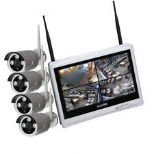 Kit completo Dvr WiFi 4 Canali e 4 telecamere WiFi 1.0 MPX con monitor 12'