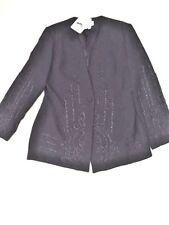 Women Black Churi Collection Evening Long Sleeve Pant Suit sz 16