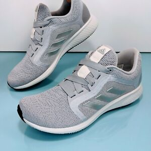 ADIDAS Bounce Edge Lux 4 Women's Size 9 Gray Knit Running Shoes Boost Sneakers